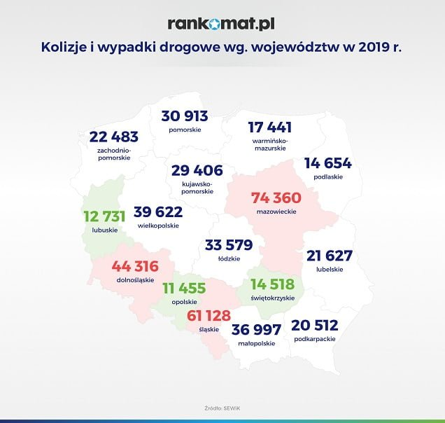 kolizje i wypadki drogowe wg wojewodztw w 2019 r v1 Akcja Obiady dla Bohaterów, która toczyła się m.in. na Zamojszczyźnie dobiegła końca.