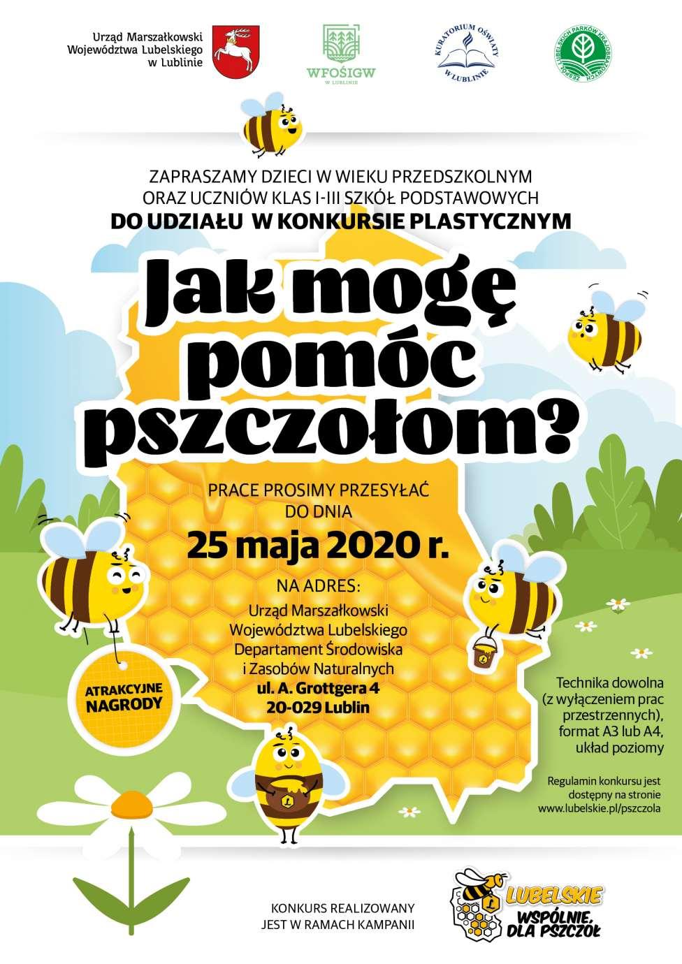 """plakat konkurs plastyczny dla dzieci Rusza konkurs plastyczny dla dzieci pt.""""Jak mogę pomóc pszczołom?"""""""