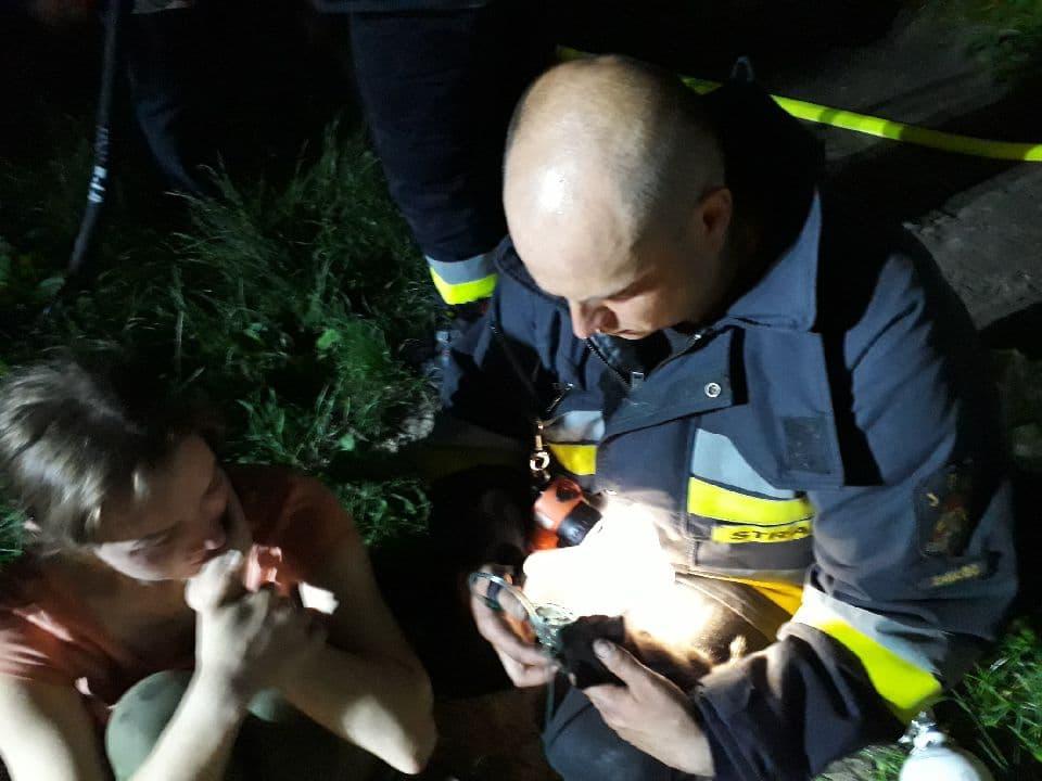 106369578 1194165154309451 940832755316775987 n Malutki kociak uratowany z pożaru domu. Strażacy podali mu tlen