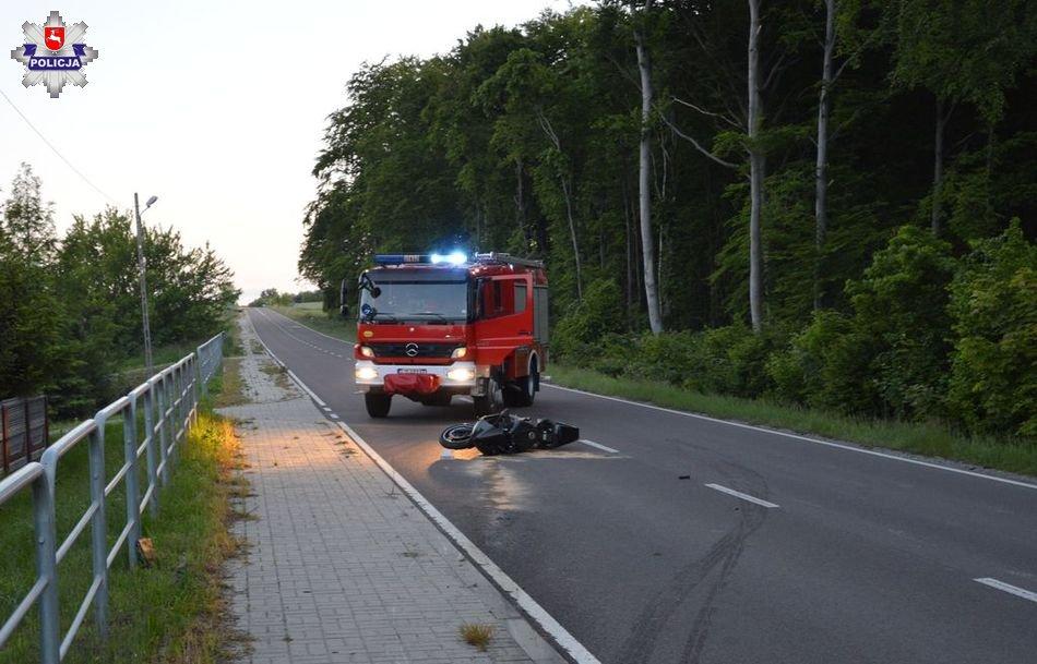 68 168395 Wypadek z udziałem motocyklisty