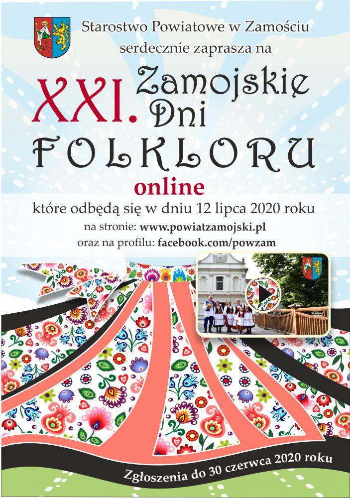 7687b XXI Zamojskie Dni Folkloru odbędą się online.