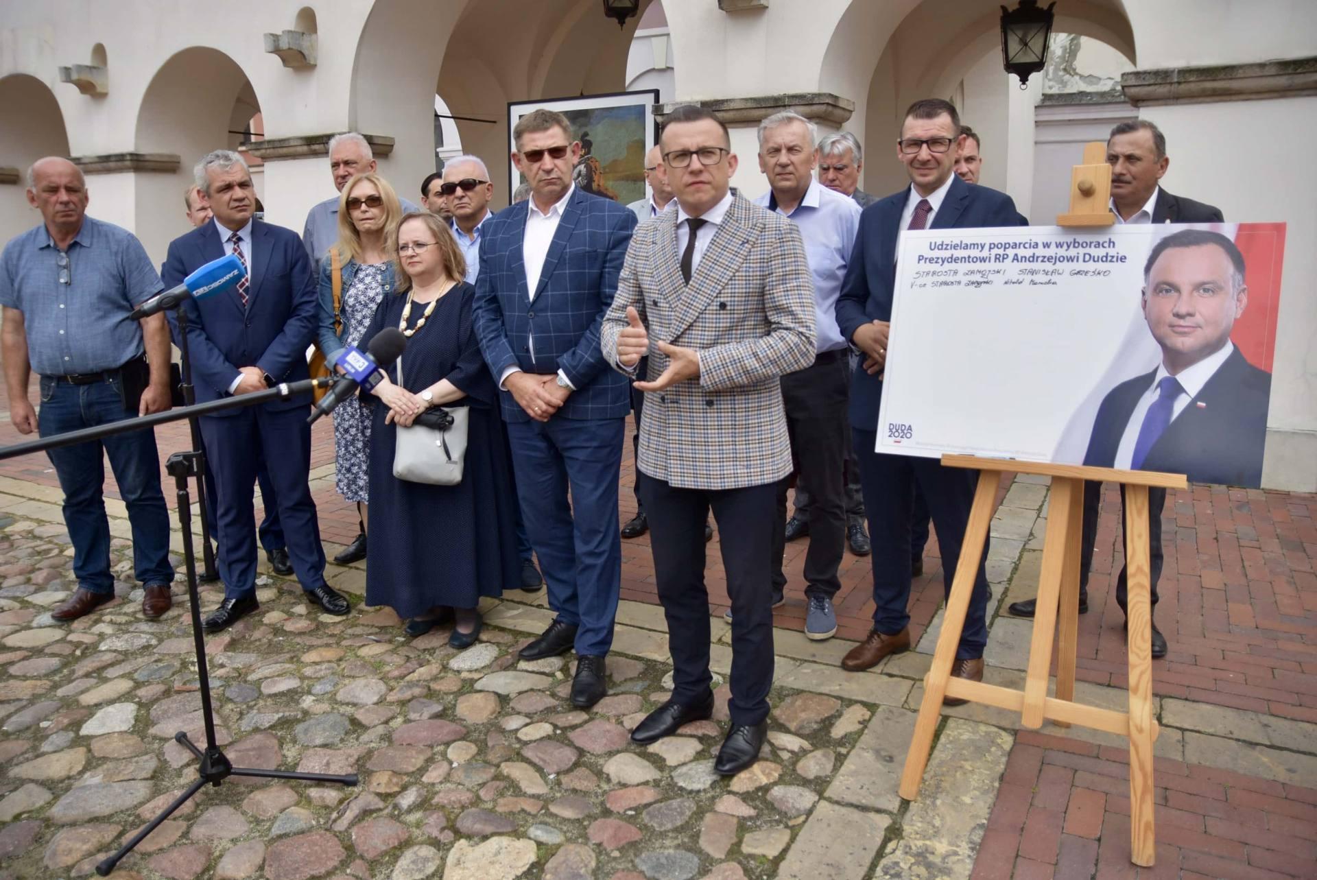 dsc 7771 Zamość: Udzielili poparcia prezydentowi Andrzejowi Dudzie
