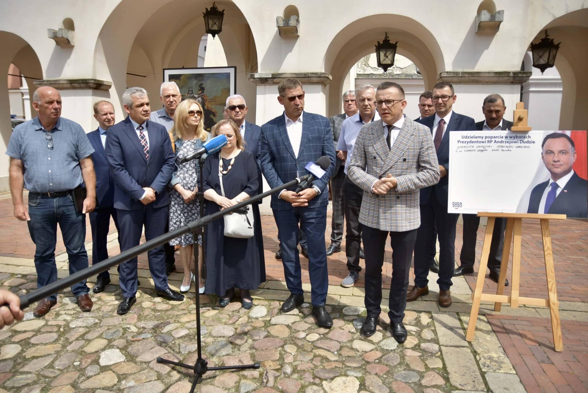 dsc 7774 Zamość: Udzielili poparcia prezydentowi Andrzejowi Dudzie
