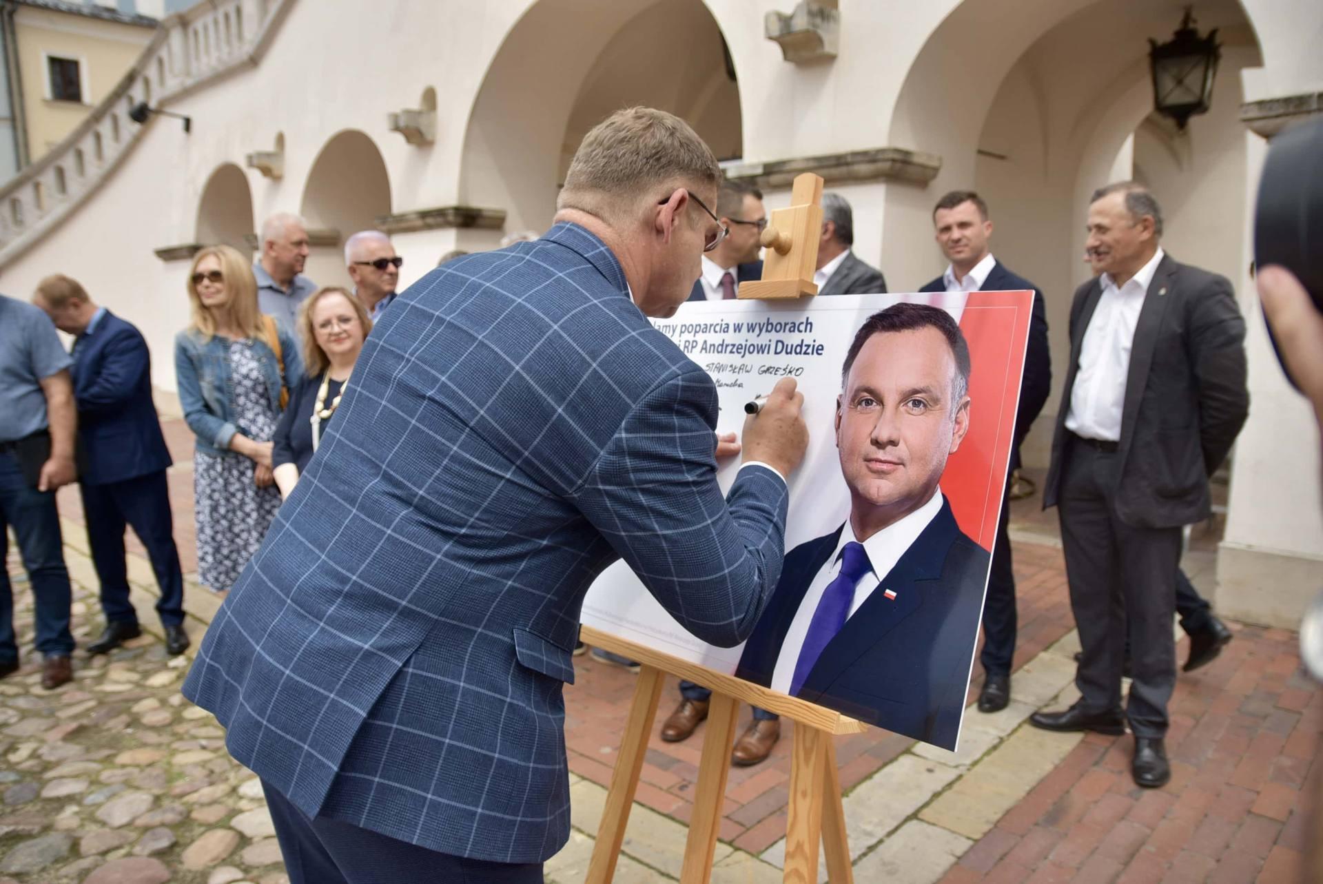dsc 7779 Zamość: Udzielili poparcia prezydentowi Andrzejowi Dudzie