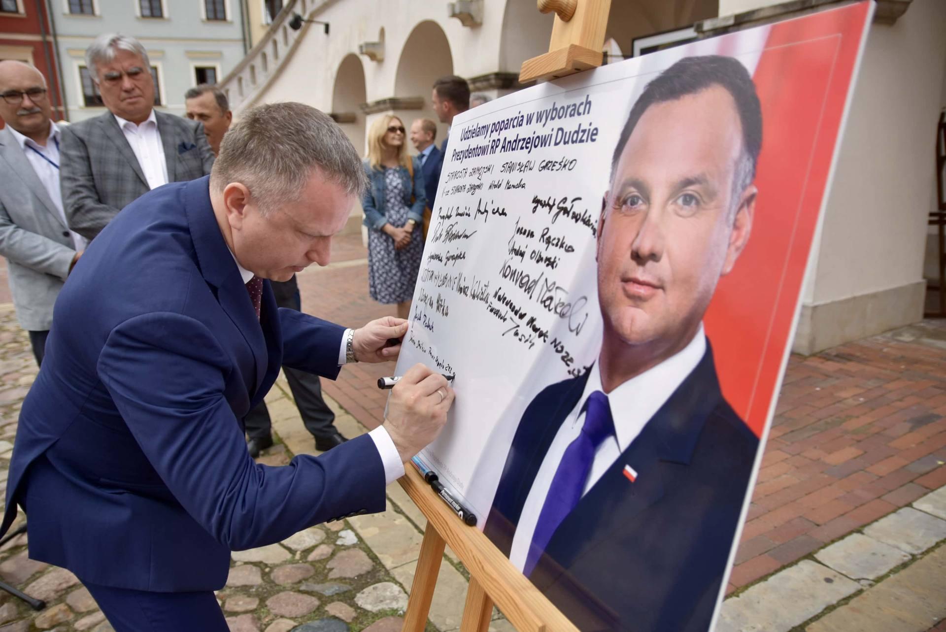 dsc 7791 Zamość: Udzielili poparcia prezydentowi Andrzejowi Dudzie
