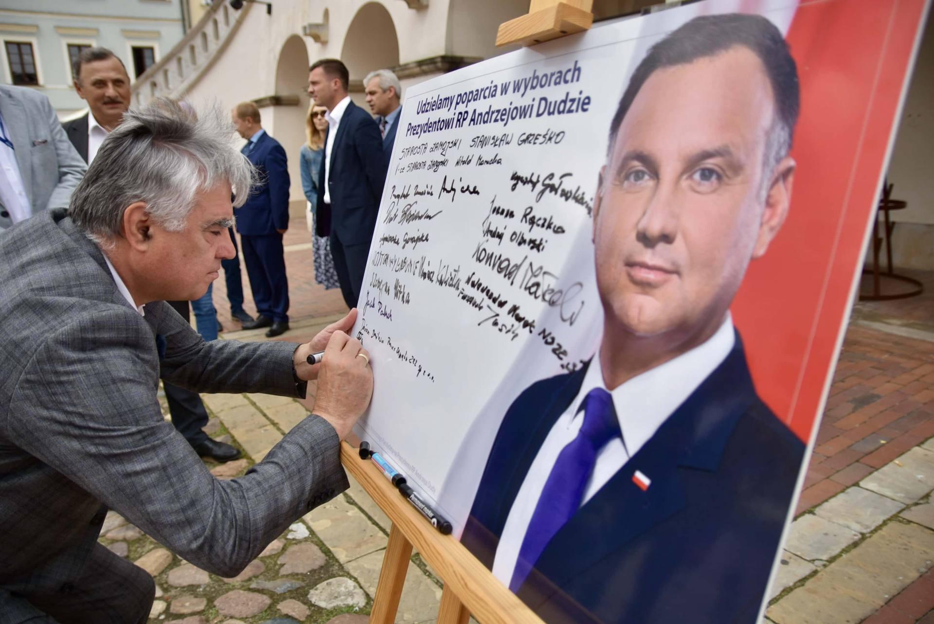 dsc 7792 Zamość: Udzielili poparcia prezydentowi Andrzejowi Dudzie