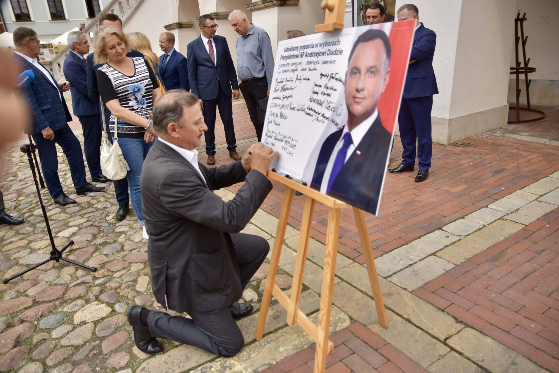 dsc 7795 Zamość: Udzielili poparcia prezydentowi Andrzejowi Dudzie