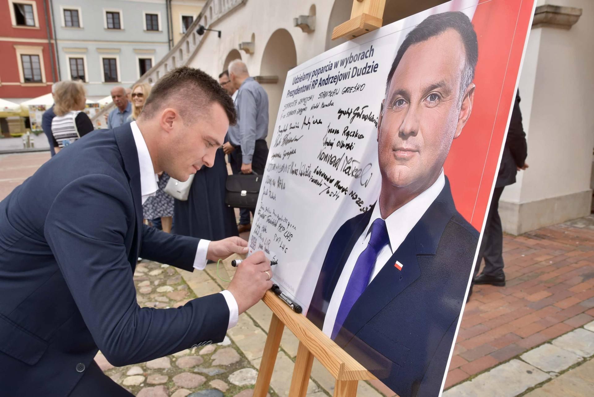 dsc 7797 Zamość: Udzielili poparcia prezydentowi Andrzejowi Dudzie