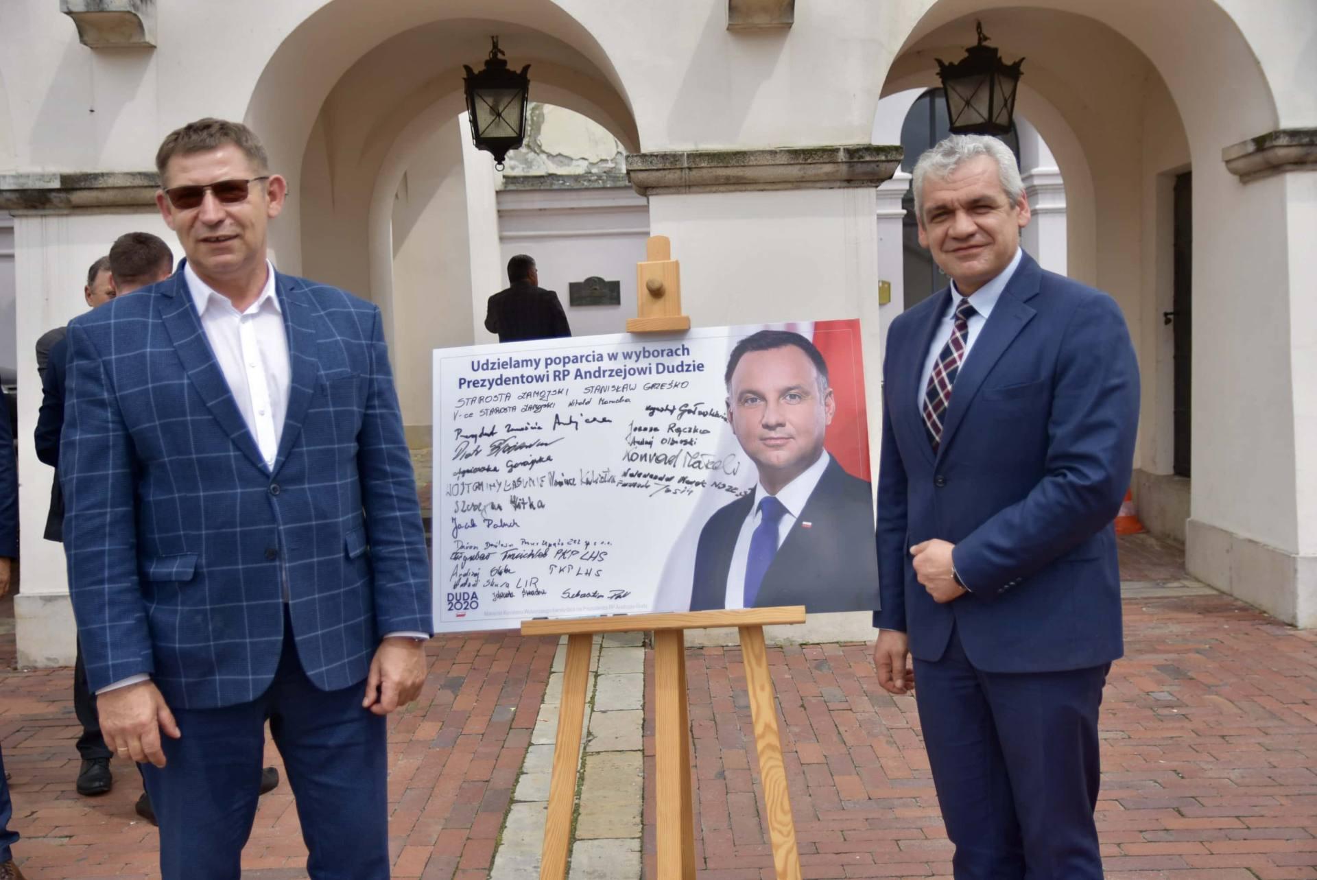 dsc 7803 Zamość: Udzielili poparcia prezydentowi Andrzejowi Dudzie