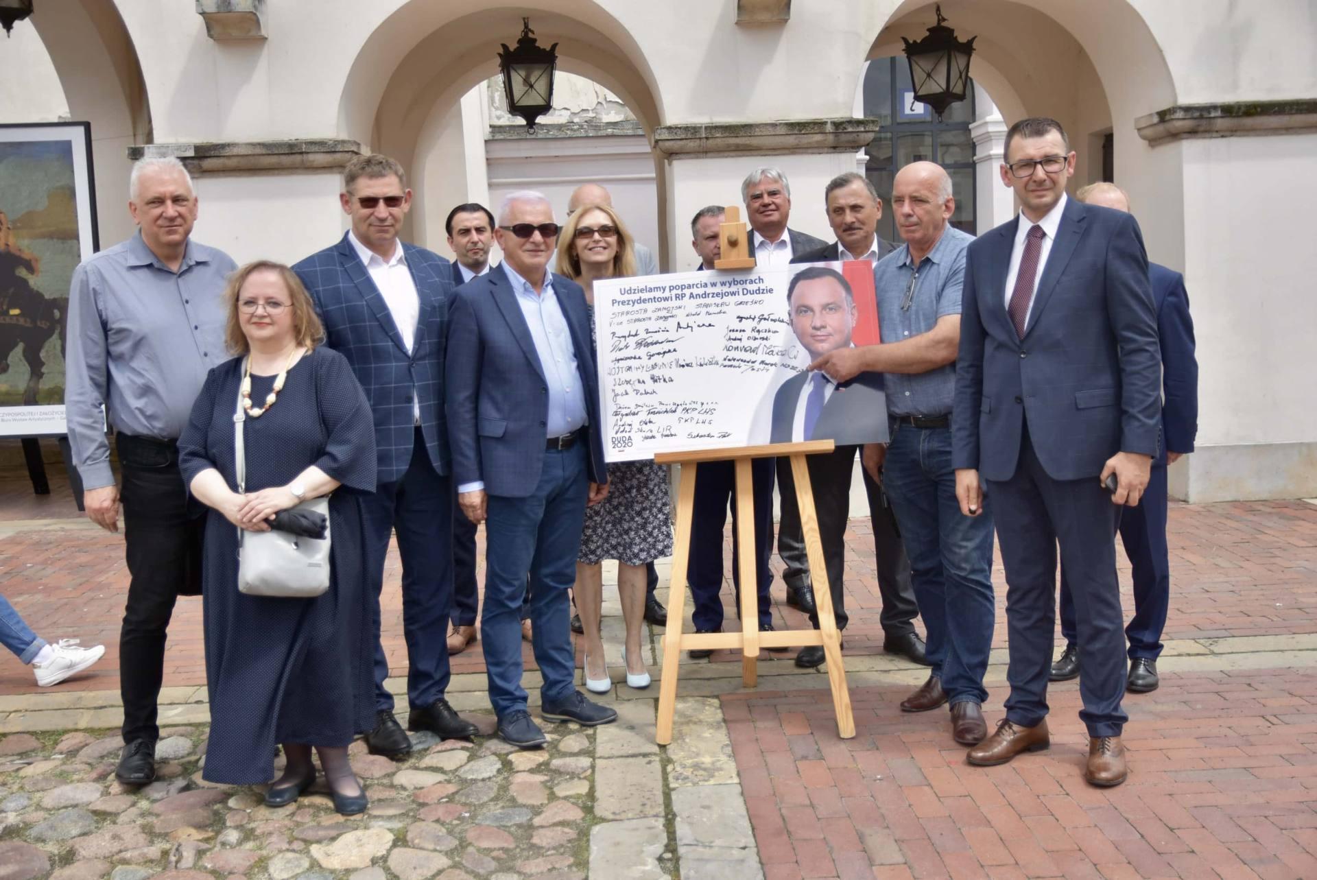 dsc 7809 Zamość: Udzielili poparcia prezydentowi Andrzejowi Dudzie