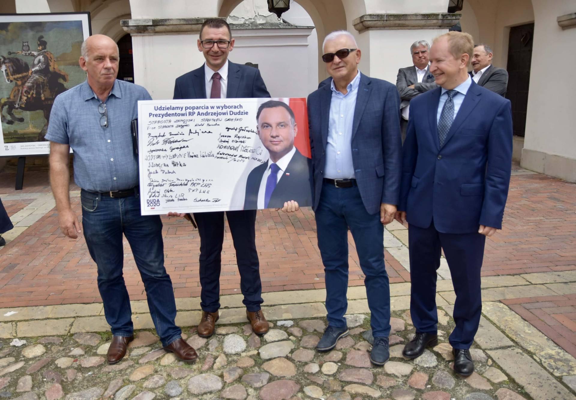 dsc 7816 Zamość: Udzielili poparcia prezydentowi Andrzejowi Dudzie