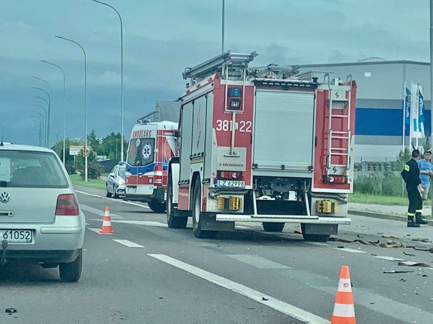 img 2009 Z ostatniej chwili: zderzenie z wozem strażackim (zdjęcia)