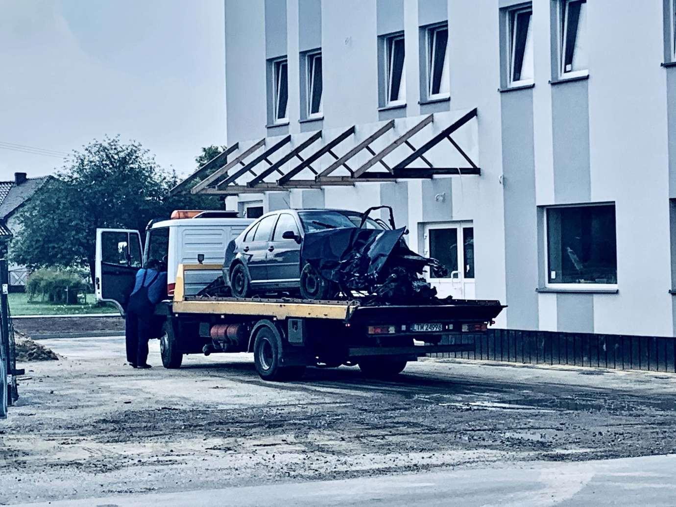 img 9469 Zderzenie Volkswagena z Renault zablokowało skrzyżowanie w Kalinowicach (ZDJĘCIA)