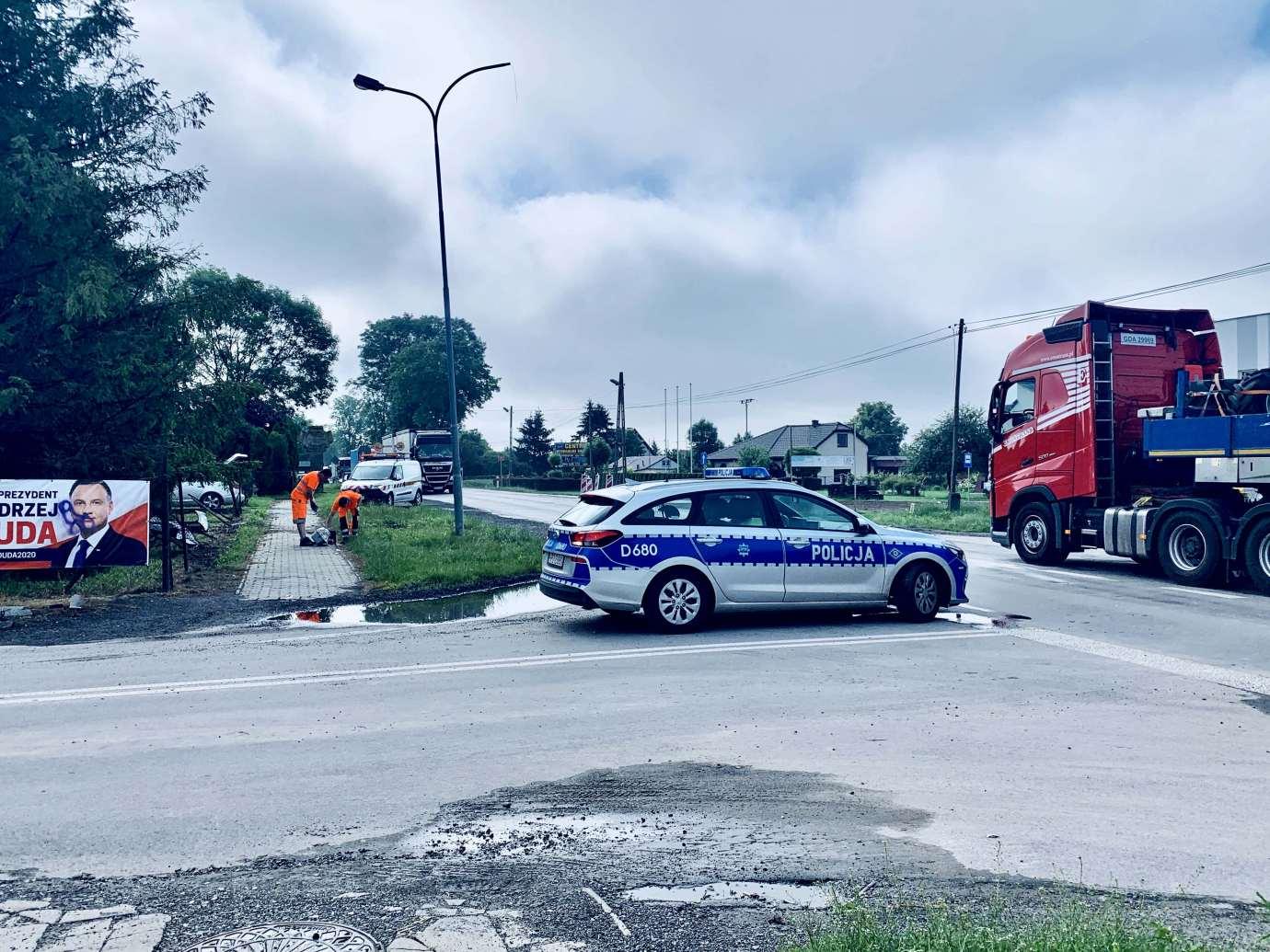 img 9470 Zderzenie Volkswagena z Renault zablokowało skrzyżowanie w Kalinowicach (ZDJĘCIA)