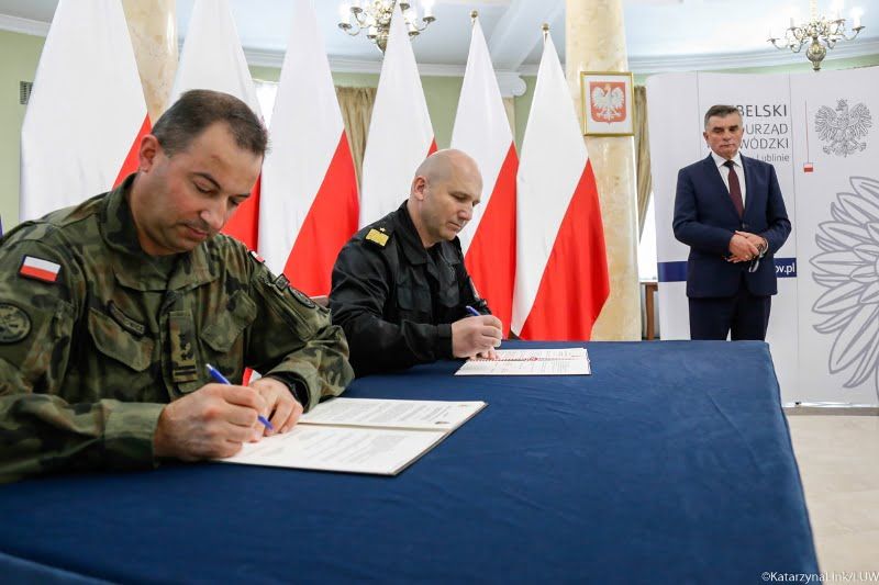 porozumienie 2 lbot kwpsp 1 Lubelscy Terytorialsi podpisali porozumienie o współpracy ze strażakami