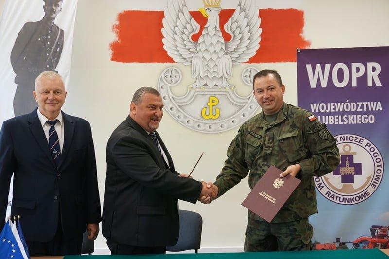 porozumienie 2 lbot wopr 1 Lubelscy Terytorialsi podpisali porozumienie z WOPR
