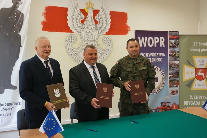 porozumienie 2 lbot wopr 2 Lubelscy Terytorialsi podpisali porozumienie z WOPR