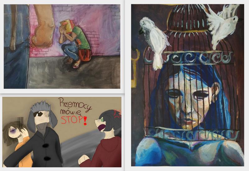 zdj 7 Przemocy mówią NIE! Wyrazili to poprzez sztukę