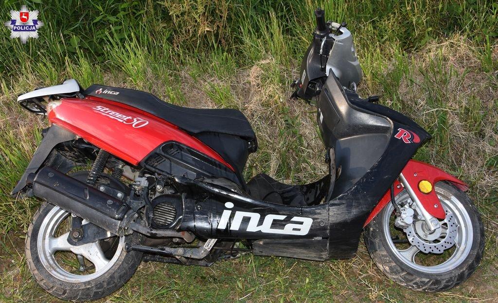 68 171266 Wypadek 17 - latka na motorowerze. Najprawdopodobniej był nietrzeźwy