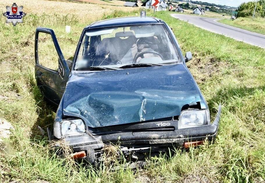 68 171775 88-letni kierowca Daewoo stracił panowanie nad pojazdem