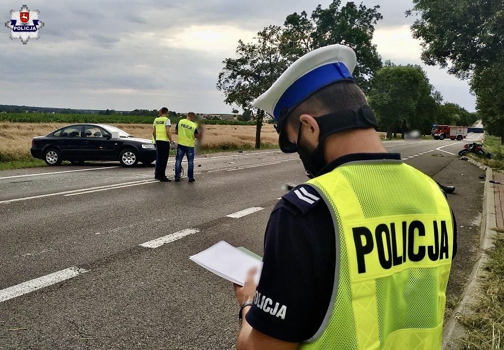 68 171854 Wypadek na DK-17. Droga do Lublina całkowicie zablokowana.