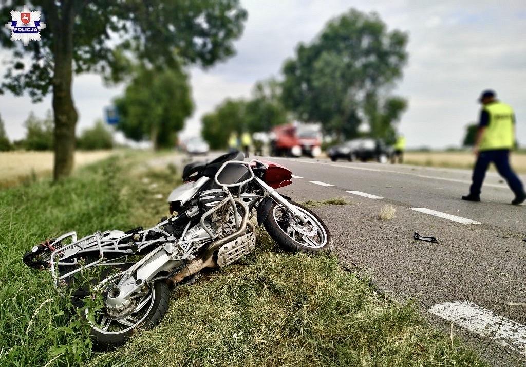 68 171855 Wypadek na DK-17. Droga do Lublina całkowicie zablokowana.