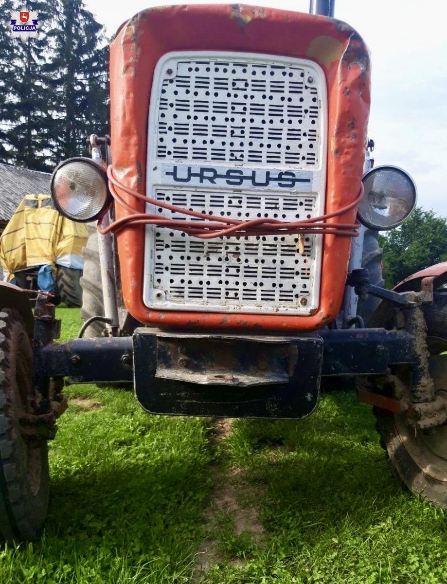 68 171883 Policyjny pościg za nietrzeźwym traktorzystą