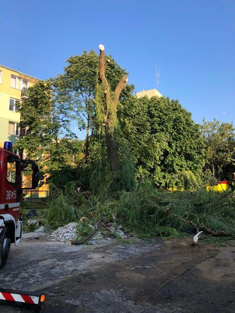 burza 2 Zerwane dachy, połamane drzewa, uszkodzone samochody. Straty po burzy, która przeszła nad Zamojszczyzną