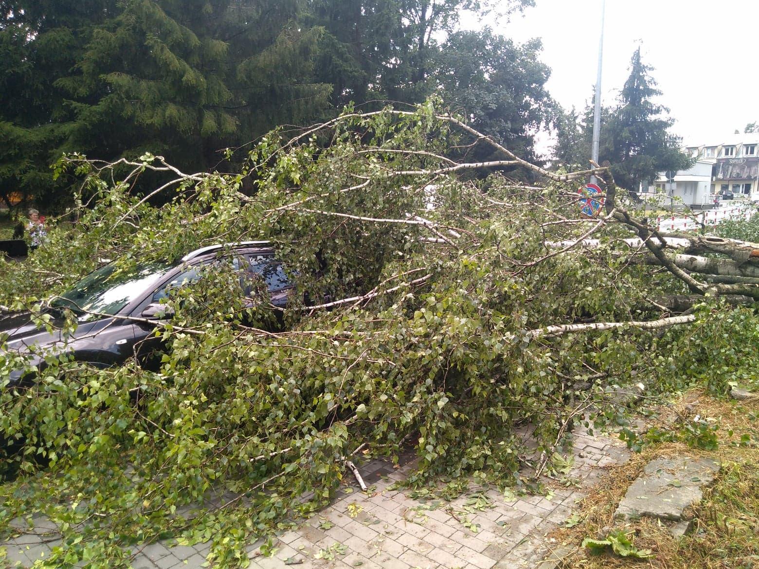 burza 7 Zerwane dachy, połamane drzewa, uszkodzone samochody. Straty po burzy, która przeszła nad Zamojszczyzną