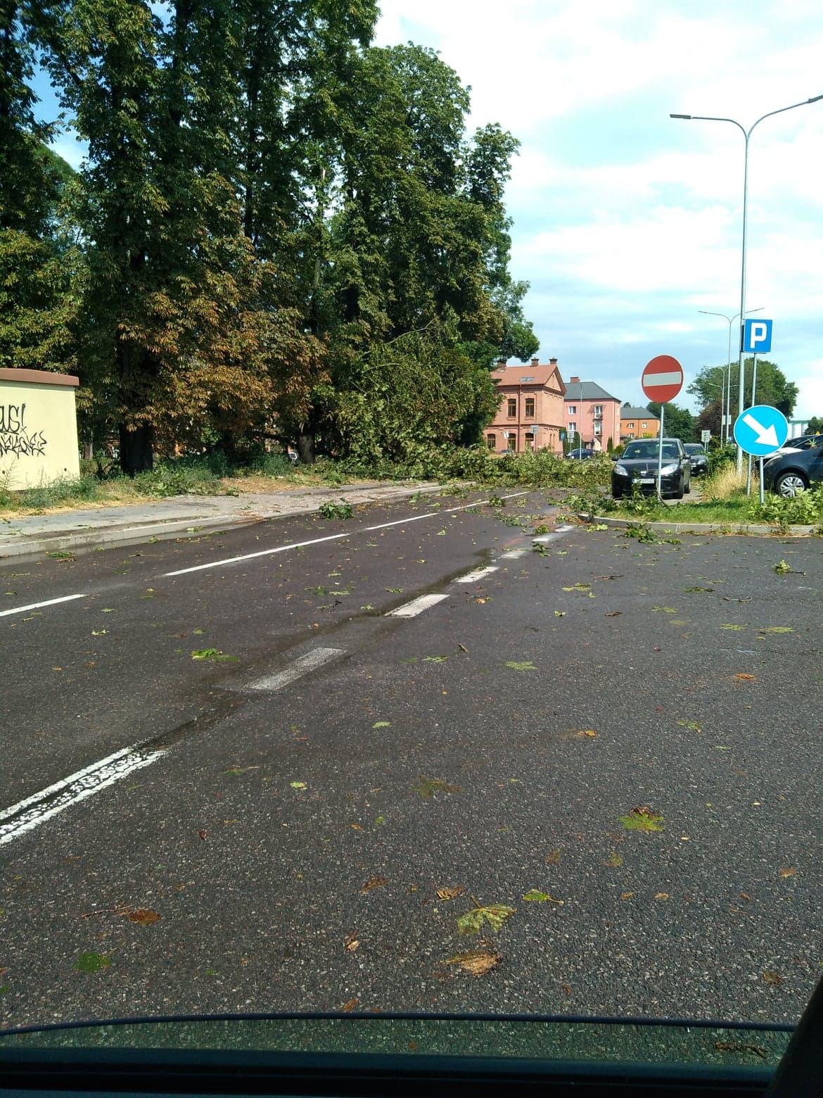 burza 8 Zerwane dachy, połamane drzewa, uszkodzone samochody. Straty po burzy, która przeszła nad Zamojszczyzną