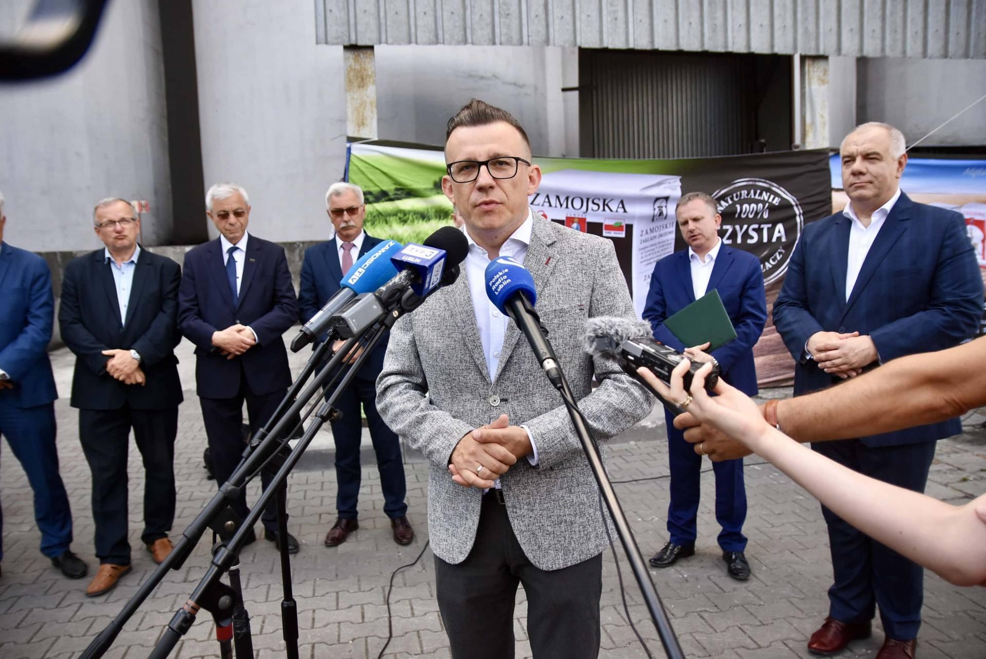 dsc 8101 Wicepremier Jacek Sasin zapowiedział modernizację Zamojskich Zakładów Zbożowych