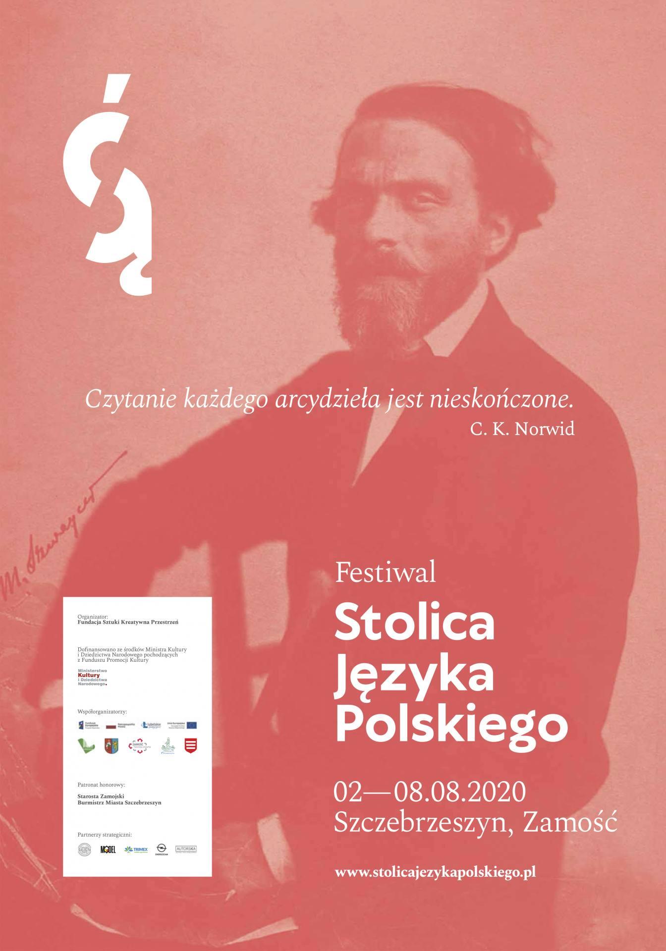 fsjp 2020 plakat 700x1000 indd Festiwal Stolica Języka Polskiego po raz 6. zagości w Zamościu i Szczebrzeszynie. ZNAMY PROGRAM