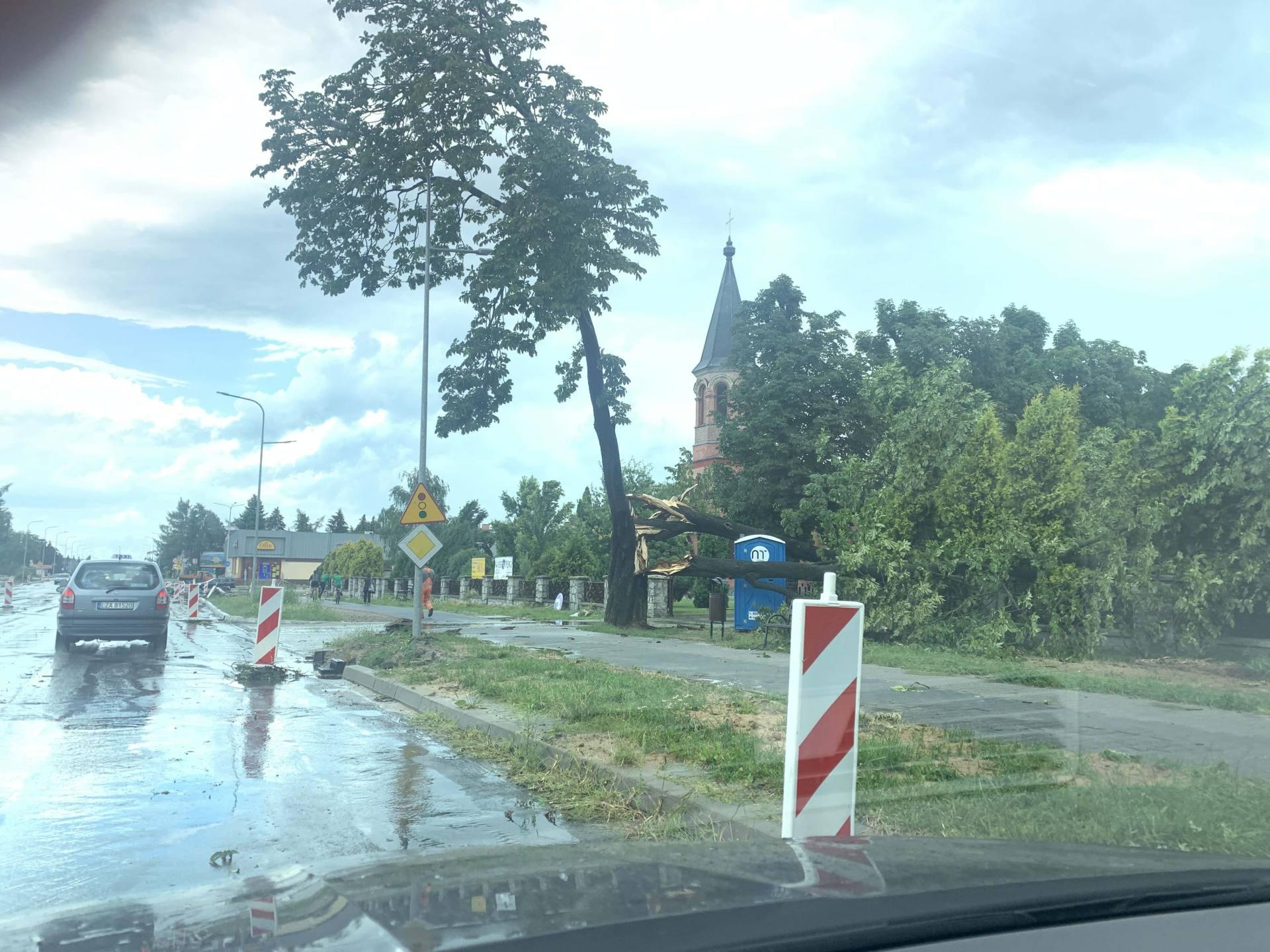 img 0950 Zerwane dachy, połamane drzewa, uszkodzone samochody. Straty po burzy, która przeszła nad Zamojszczyzną