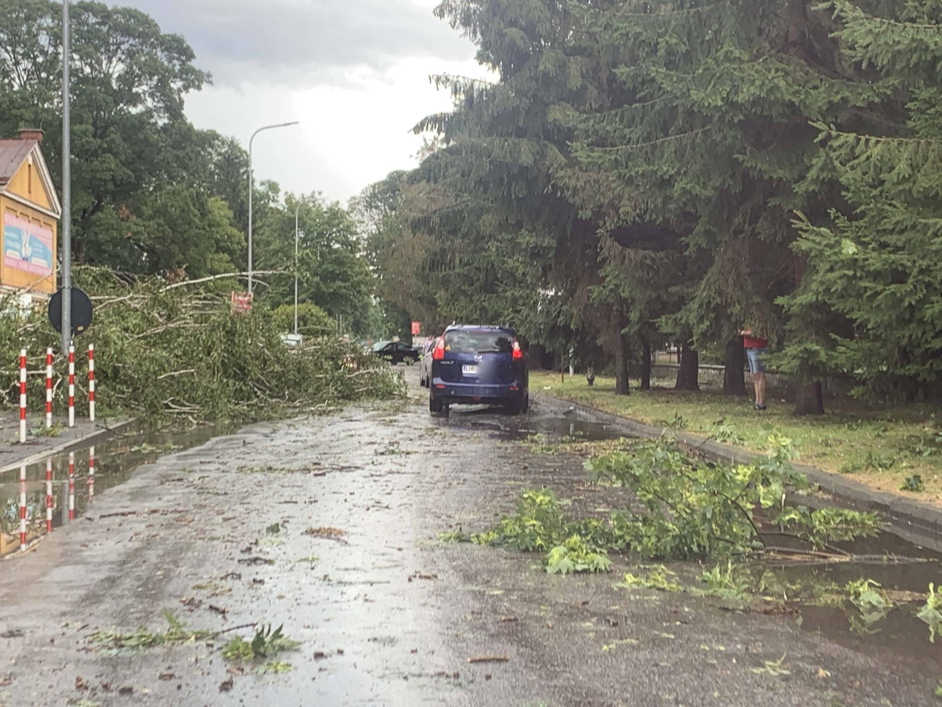 img 0958 Zerwane dachy, połamane drzewa, uszkodzone samochody. Straty po burzy, która przeszła nad Zamojszczyzną