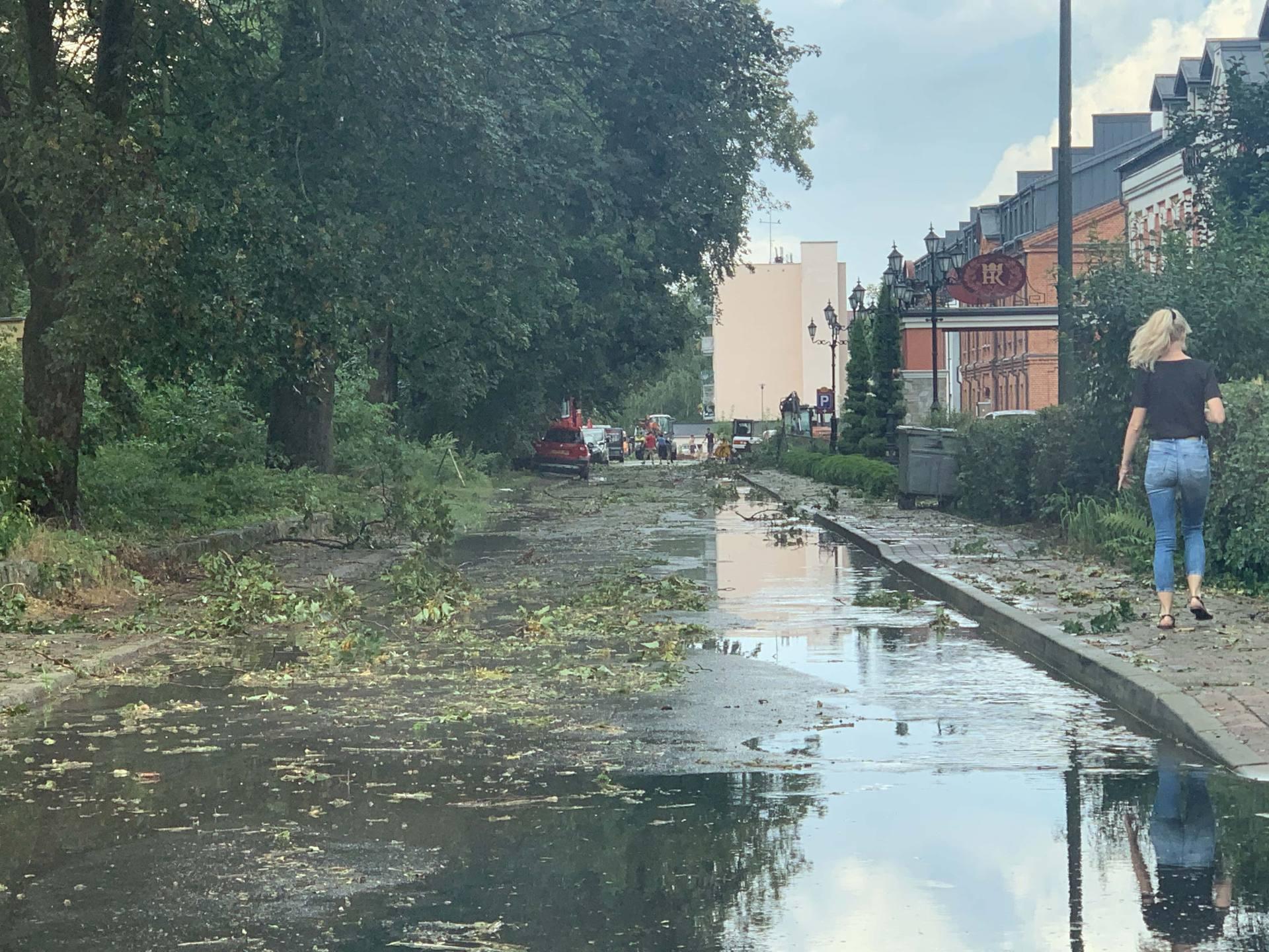 img 0960 Zerwane dachy, połamane drzewa, uszkodzone samochody. Straty po burzy, która przeszła nad Zamojszczyzną