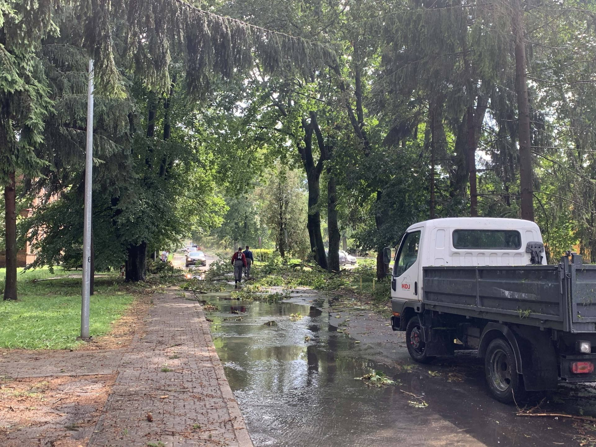 img 0961 Zerwane dachy, połamane drzewa, uszkodzone samochody. Straty po burzy, która przeszła nad Zamojszczyzną