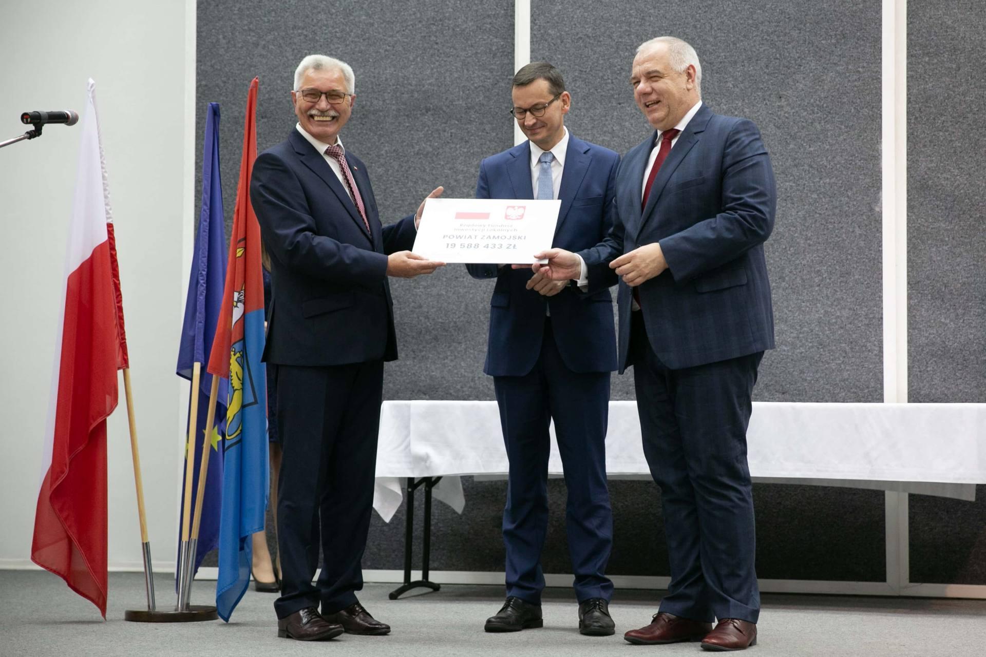 premier morawiecki w zamosciu 33 Premier Mateusz Morawiecki spotkał się z samorządowcami z Zamojszczyzny [ZDJĘCIA]