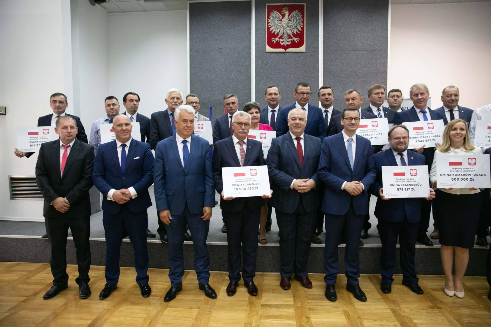 premier morawiecki w zamosciu 34 Premier Mateusz Morawiecki spotkał się z samorządowcami z Zamojszczyzny [ZDJĘCIA]