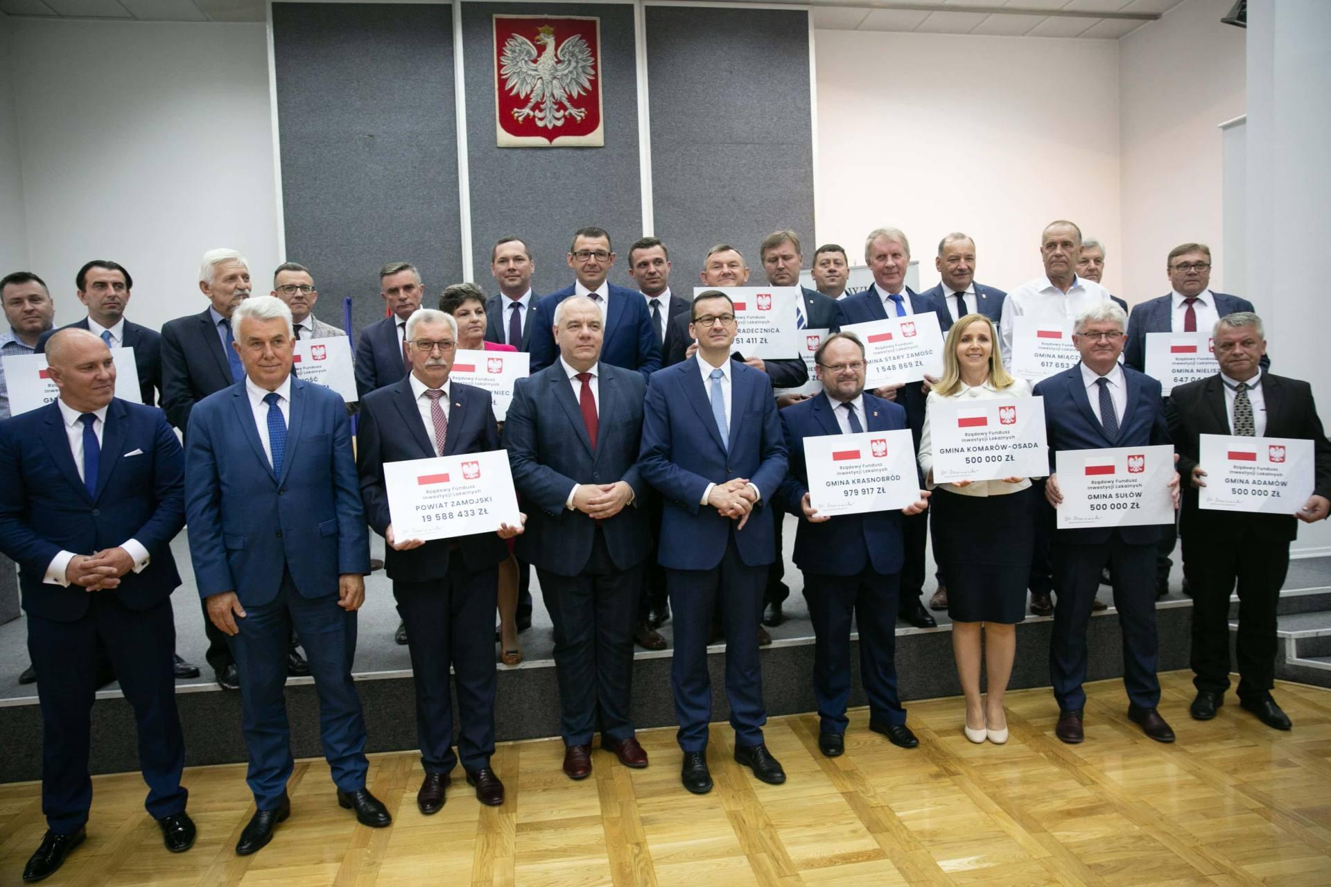 premier morawiecki w zamosciu 35 Premier Mateusz Morawiecki spotkał się z samorządowcami z Zamojszczyzny [ZDJĘCIA]