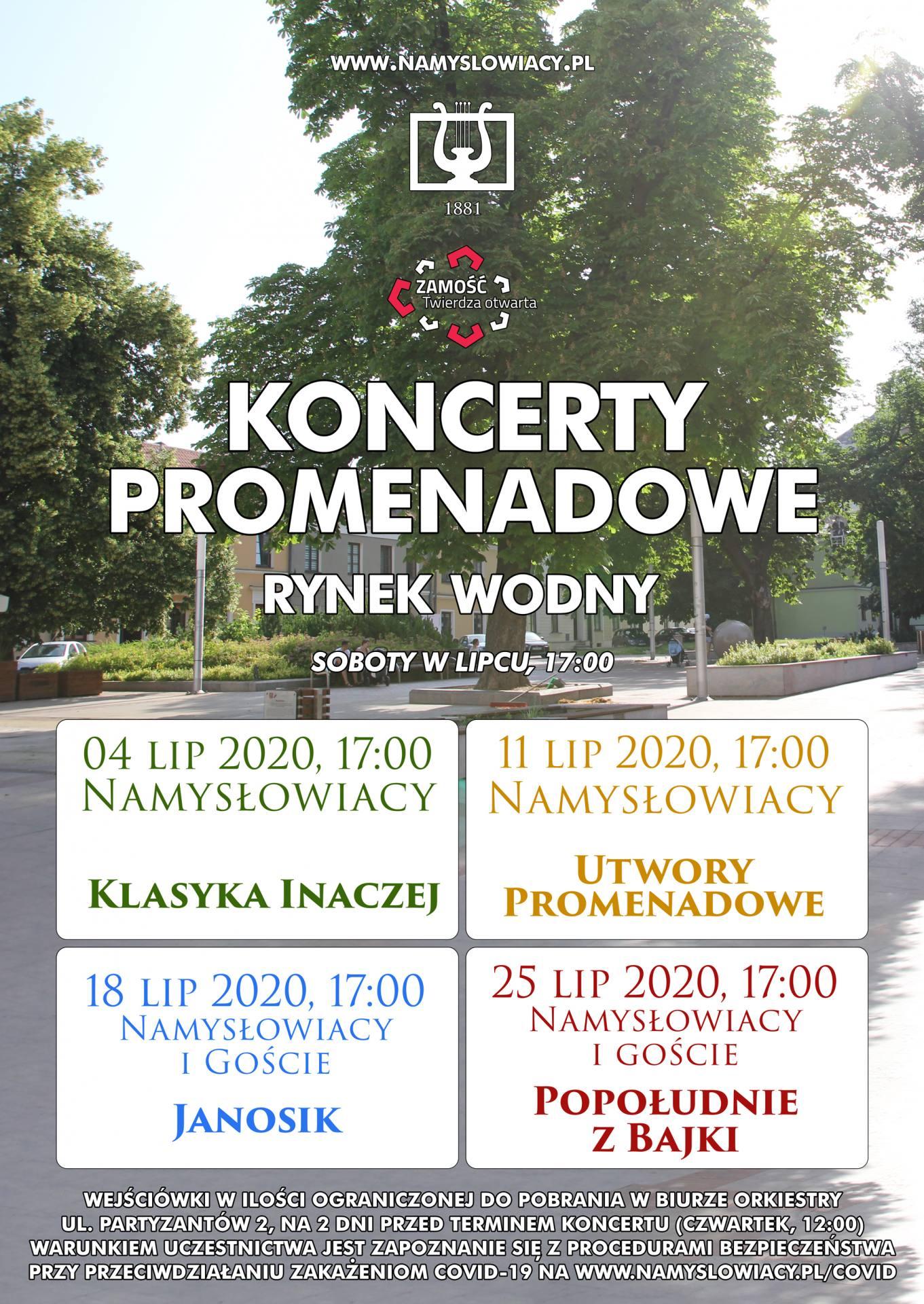 promenadowy 2020 Namysłowiacy powracają z koncertami plenerowymi.