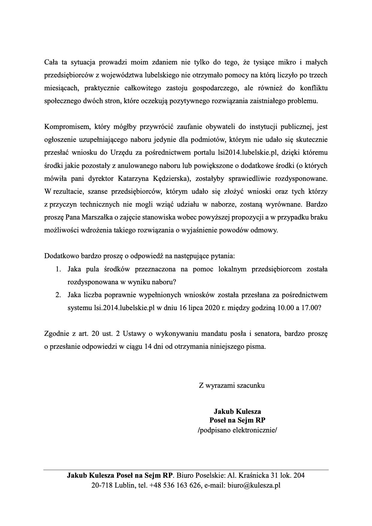 zwl anulowanie naboru przeciagniete 3 Poseł Konfederacji interweniuje w sprawie anulowania wniosków na dotacje dla przedsiębiorców