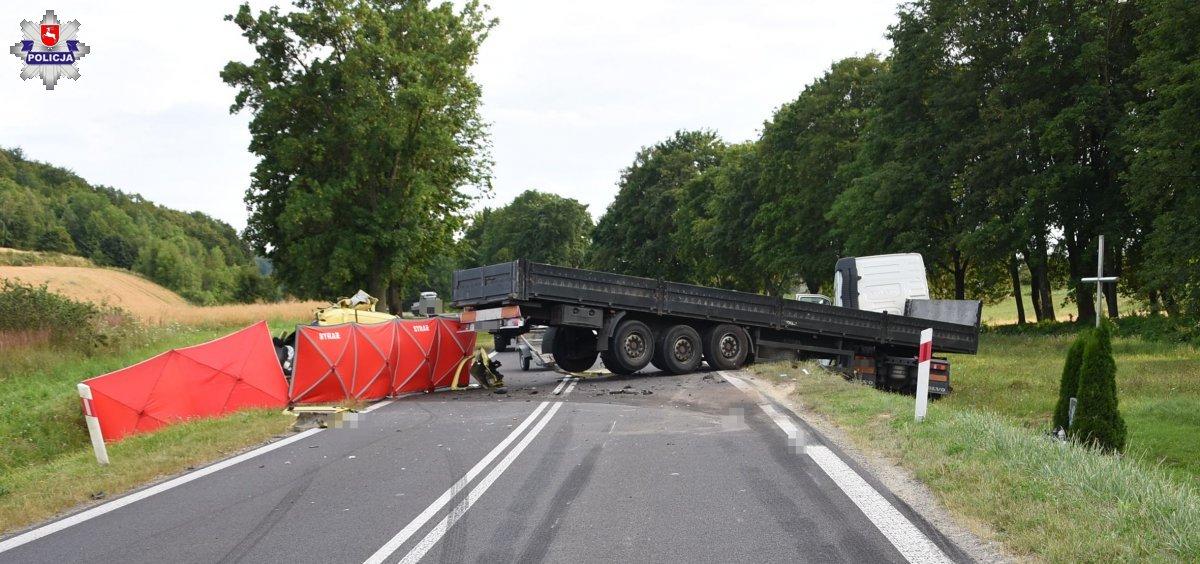 68 172582 Tragiczny wypadek. 24- latek zginął na miejscu