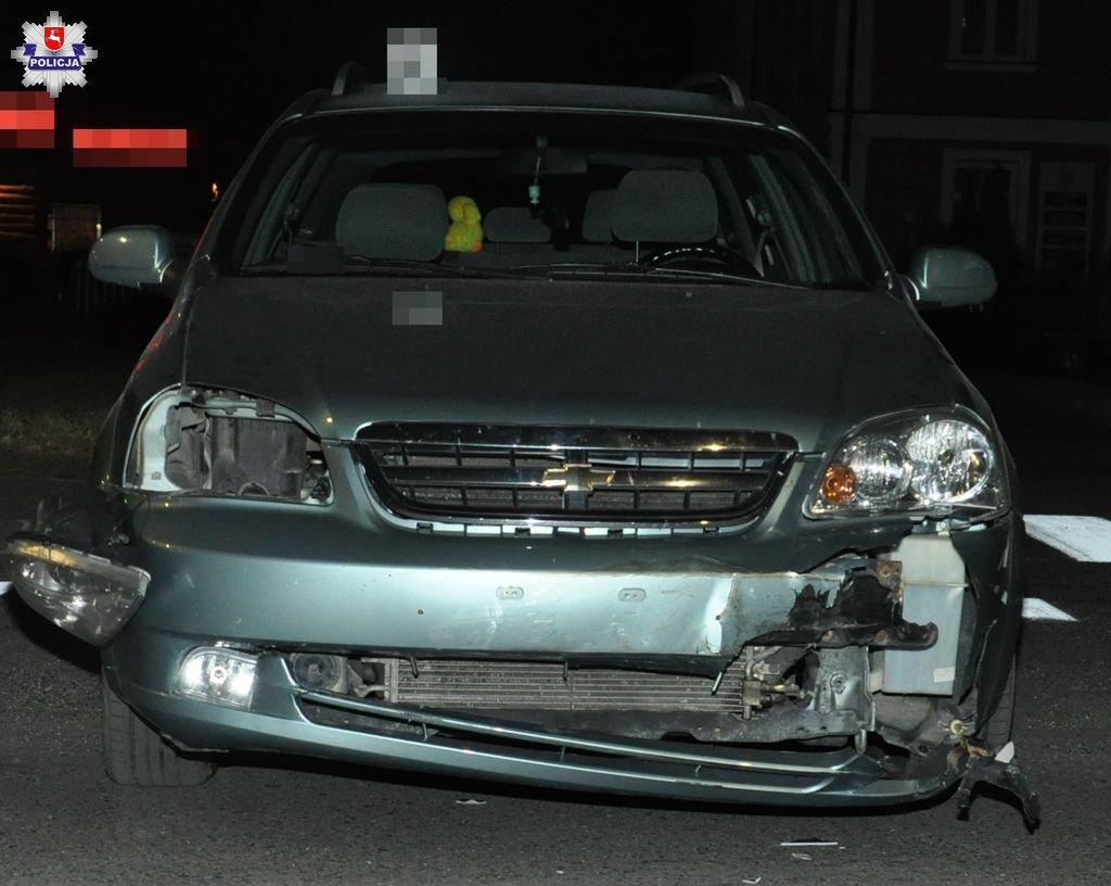 68 173382 Wypadek na ul. Partyzantów. Jedna osoba została ranna