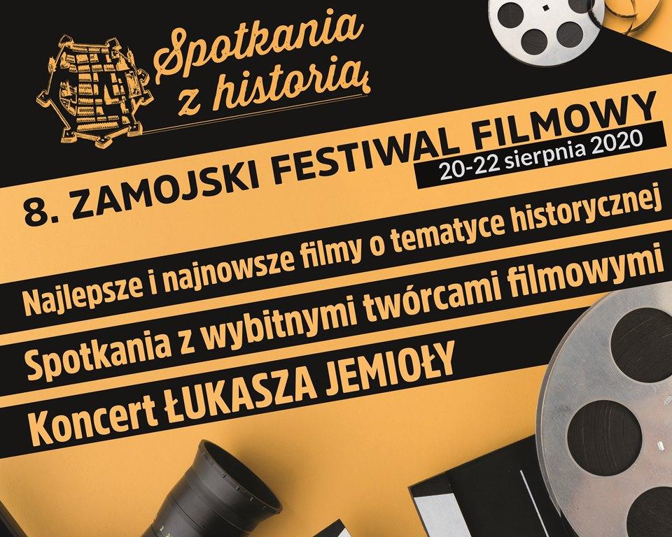 """8zff baner Przed nami 8. edycja Zamojskiego Festiwalu Filmowego """"Spotkania z historią"""""""