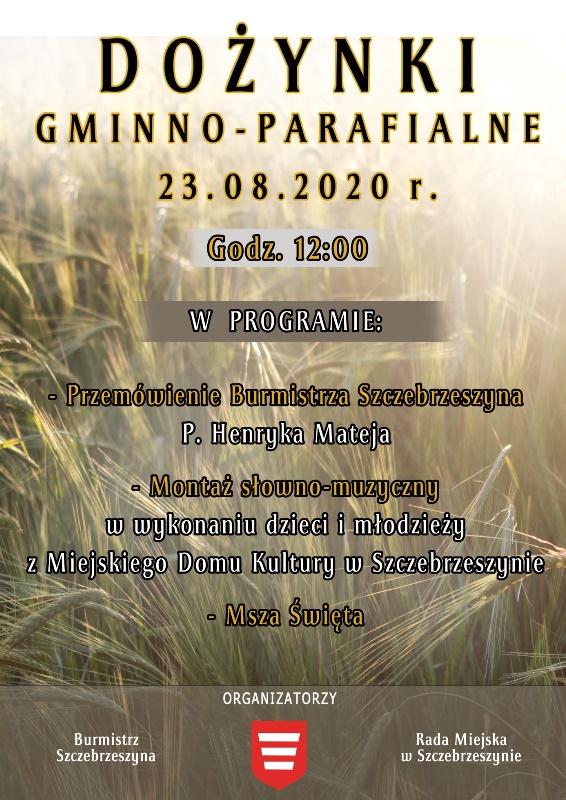 dozynki plakat Szczebrzeszyn: Rolnicy podziękują za plony