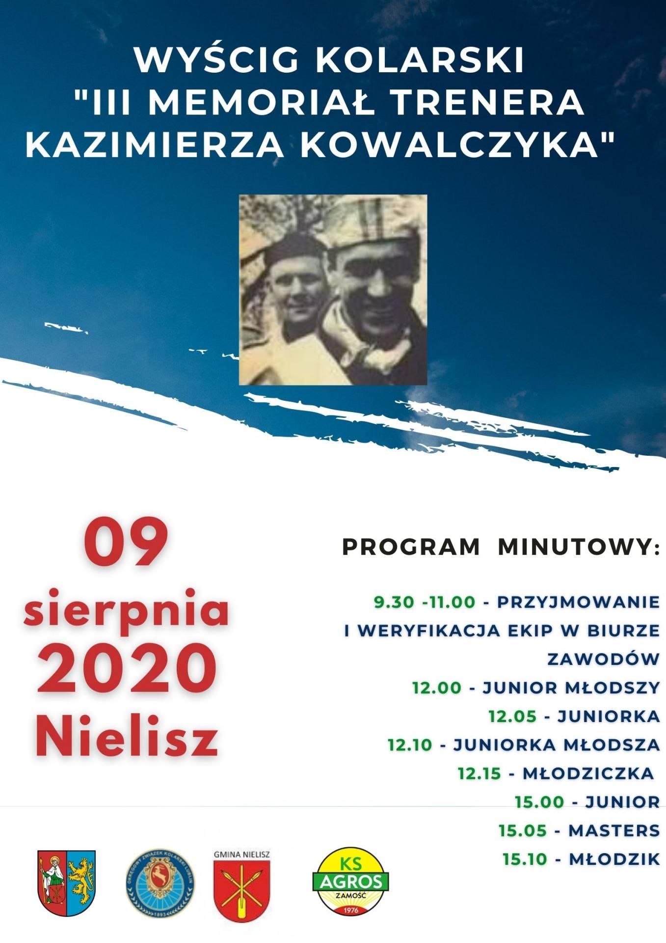 iii memorial trenerakazimierza kowalczyka 9 9 sierpnia 2020r nielisz Zbliżasię wyścig kolarski - będą utrudnienia na drogach naszego regionu!