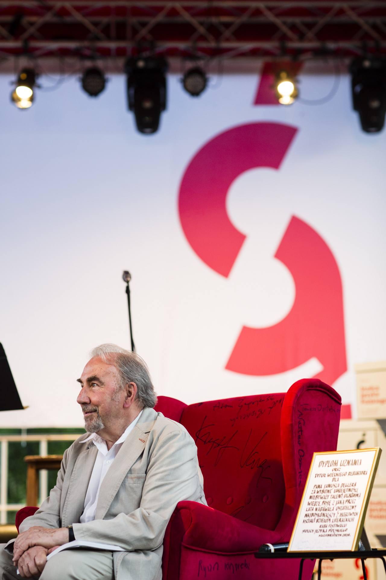 janusz degler fot wojciech lembryk Festiwal Stolica Języka Polskiego 2020 - znamy laureata Nagrody Wielkiego Redaktora.