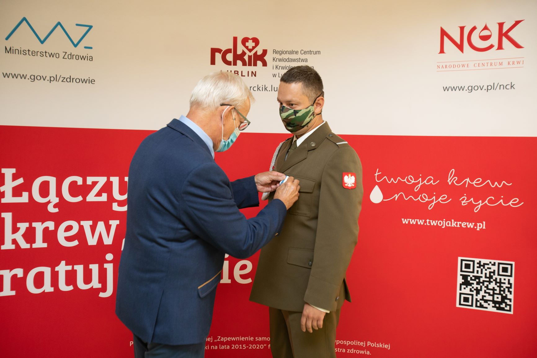 odznaczenie zolnierza autor rckik lublin Terytorialsi odznaczeni za oddawanie krwi