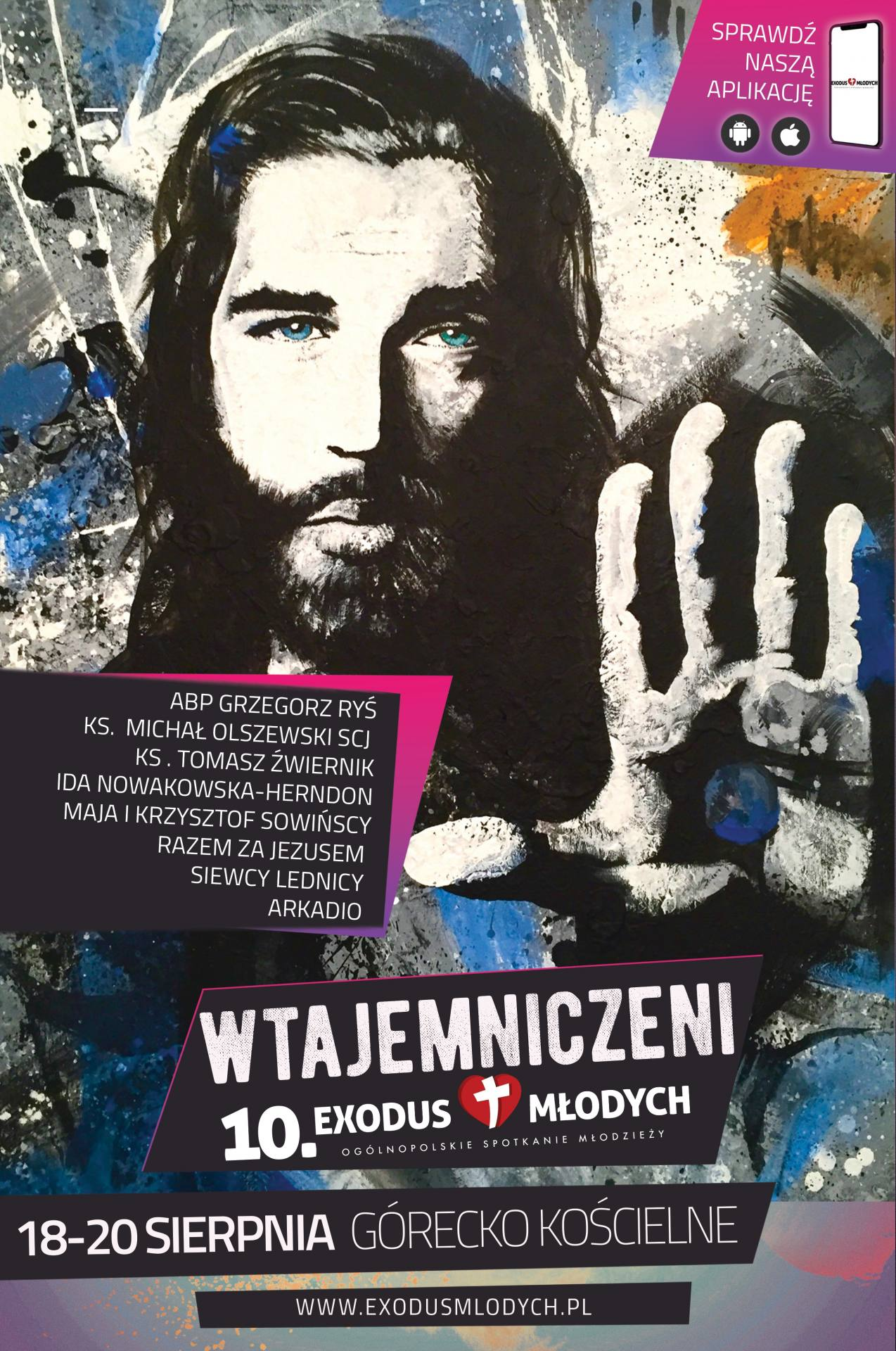 plakat 2020 Przed nami 10. Exodus Młodych - ogólnopolskie spotkaniem młodzieży w diecezji zamojsko-lubaczowskiej