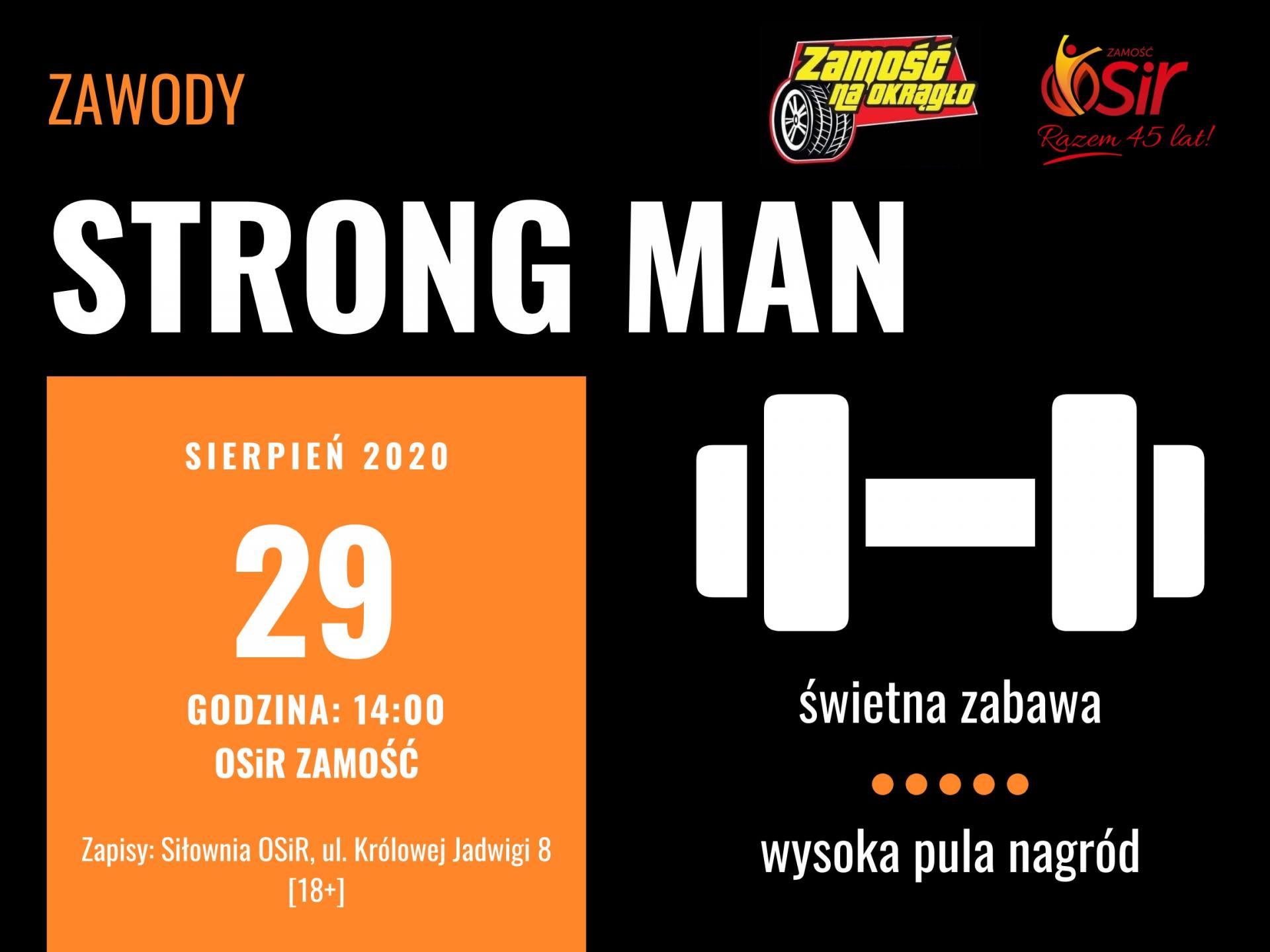 strongman Wyłonią najsilniejszego. Zawody Strong Man w Zamościu